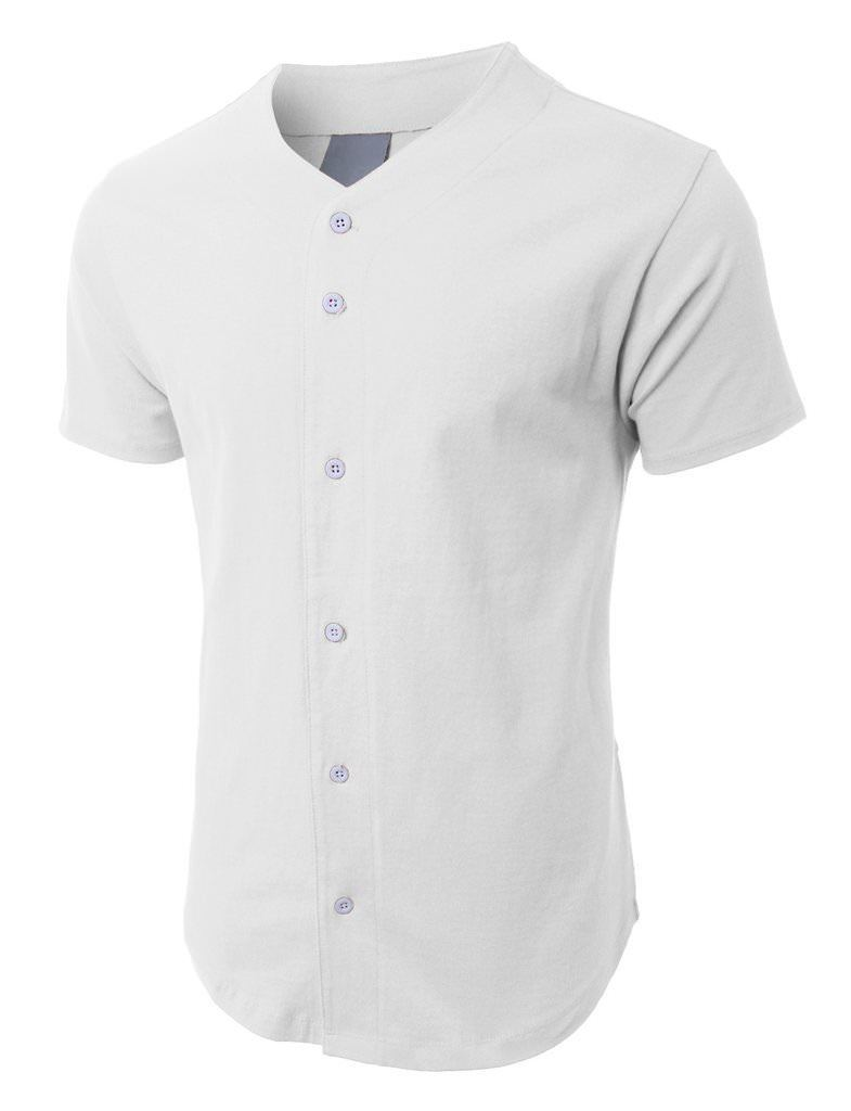 hot sale online 22d37 248fe Men's Baseball Jersey White Plain T-Shirt